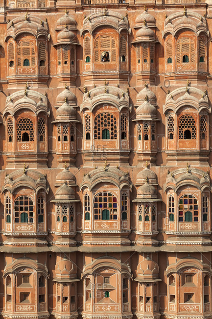 Jaipur, Rajasthan, India - November 23, 2012: Palace of the Winds
