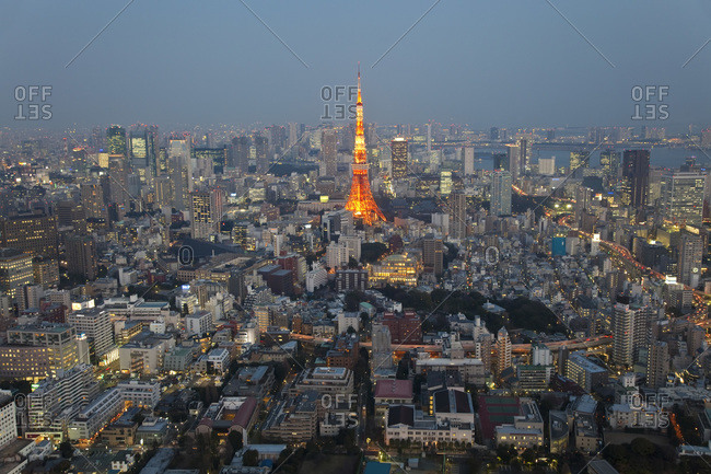Tokyo cityscape with the Tokyo Tower