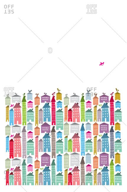 Stacks of houses