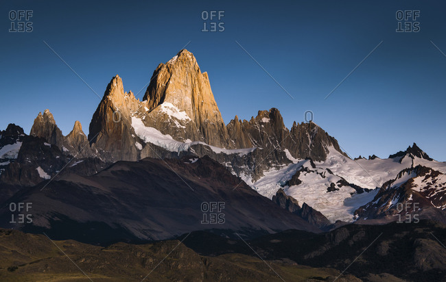 A steep mountain range in Argentina