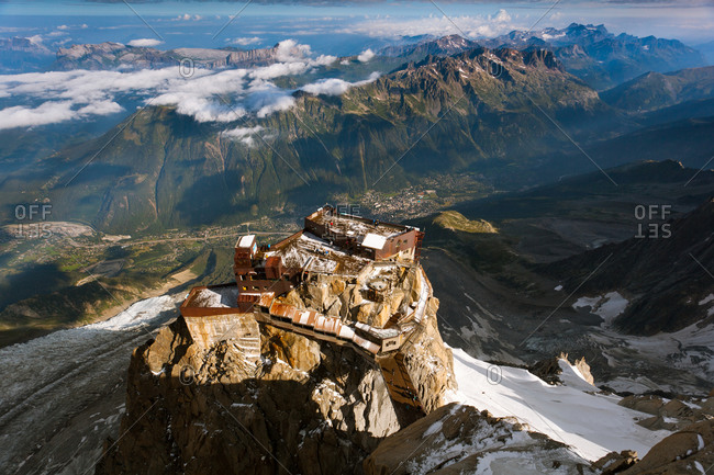 A scenic lookout in Chamonix