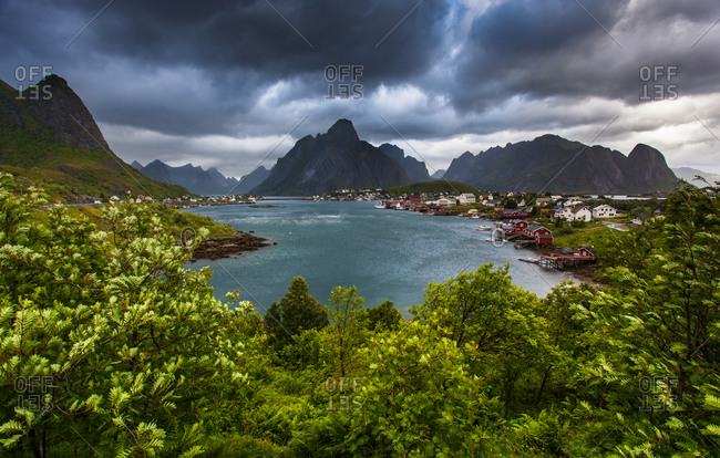 A village on the shores of Lofoten, Norway