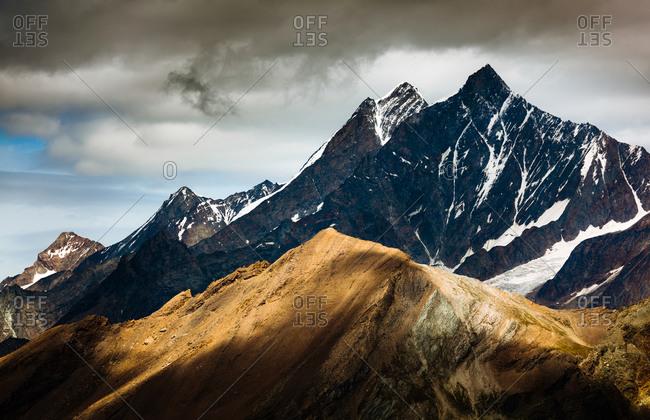 Sharp peaks of the Swiss Alps