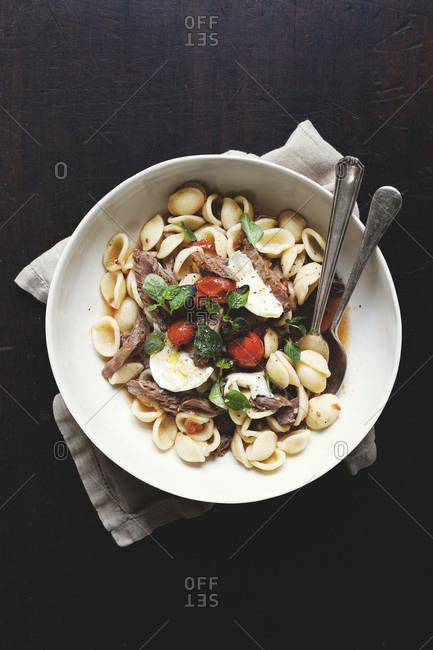 Winter lamb ragout with pasta