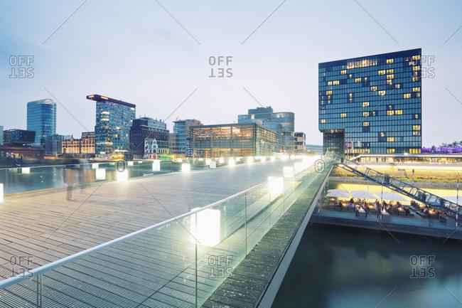 The Living Bridge in Dusseldorf, Germany