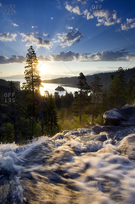 Sunrise at Eagle Falls at Emerald Bay in Lake Tahoe, California