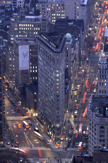 July 22, 2014 - Manhattan: Flatiron building at night