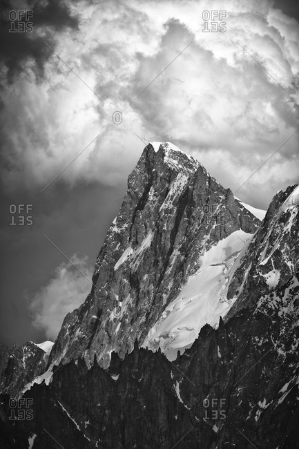 The mighty Grandes Jorasses seen from Aiguille du Midi, Chamonix, France