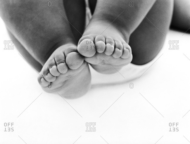 Feet of overweight child