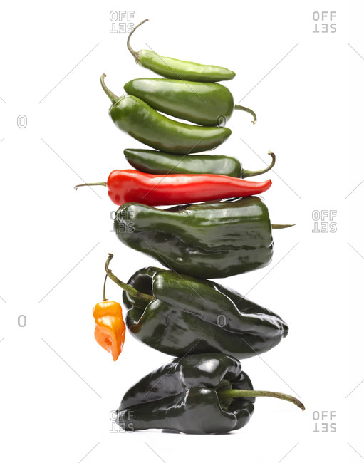 A stack of peppers