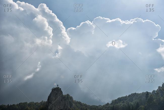 Dramatic cloudy atmosphere, Swabian Alps