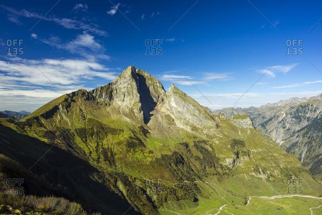 View to mountain Hoefats, Allgaeu Alps
