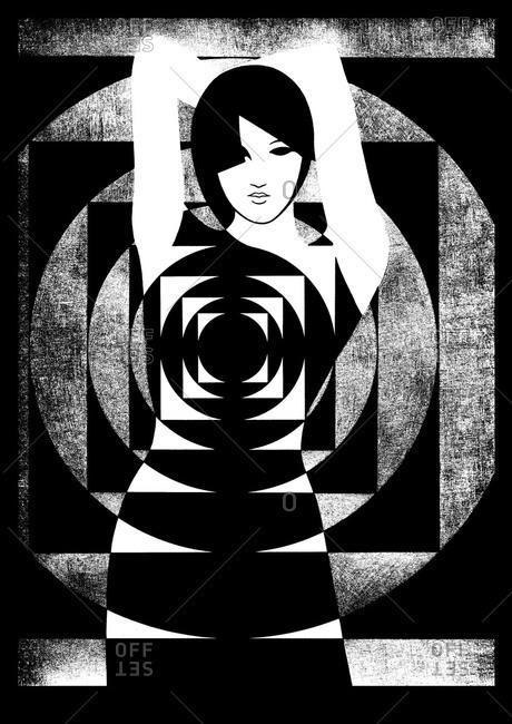 Geometric illustration of female