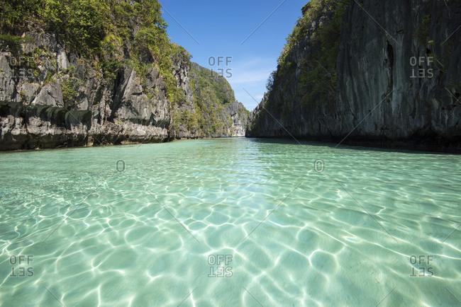 Tropical water and limestone islands of El Nido, Palawan