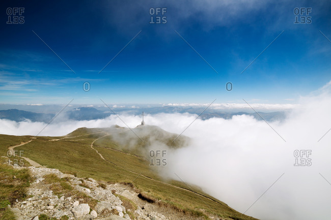 Cloud cover in Carpathian Mountains