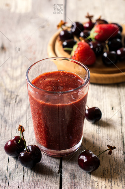 Cherry and strawberry smoothie