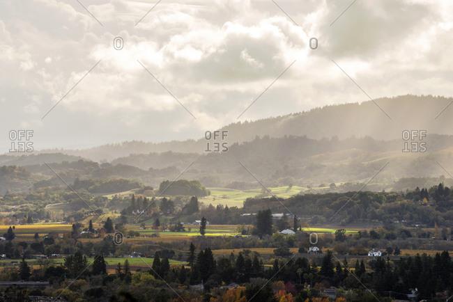 Healdsburg and the Dry Creek Valley wine country in Healdsburg, California