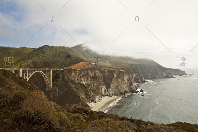 Bixby Creek Bridge at Big Sur in California, USA