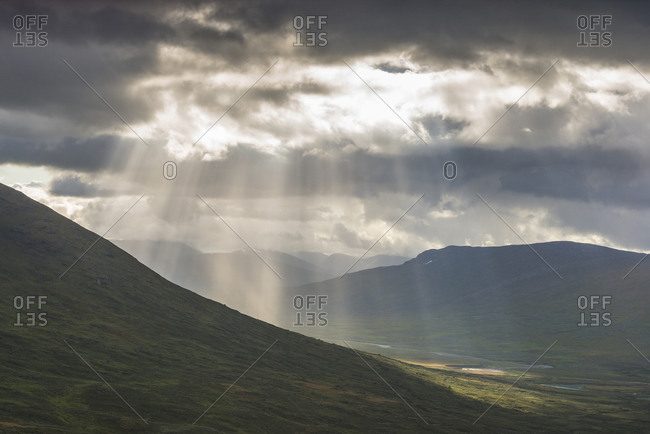 Sunbeams over mountains - Offset Collection
