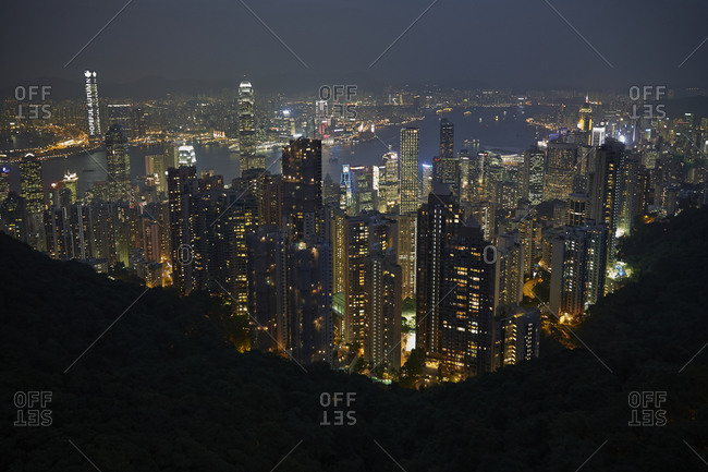 View of Hong Kong at night