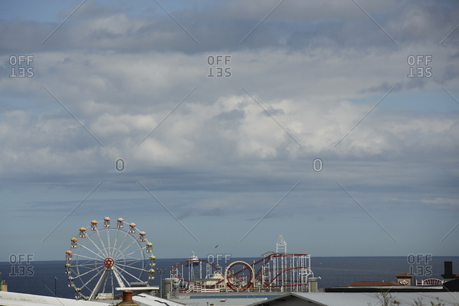 Amusement park at the sea