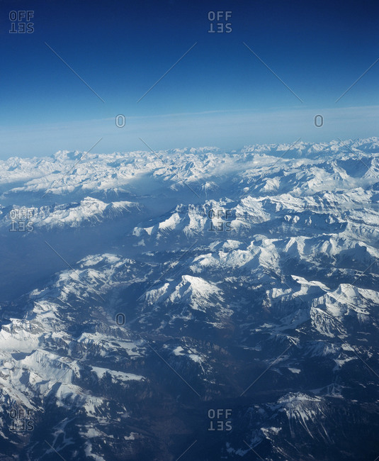 Mountains from above