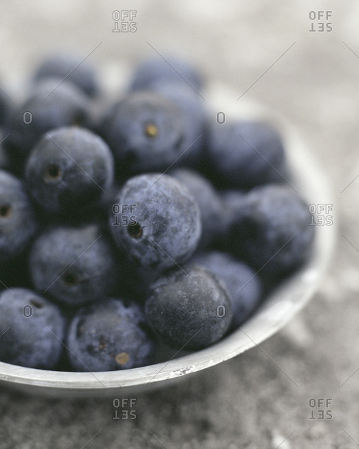 A bowl of sloes