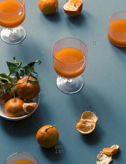 Mandarins and juice