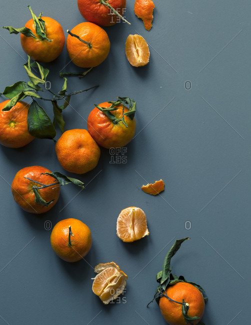 Mandarins on a table