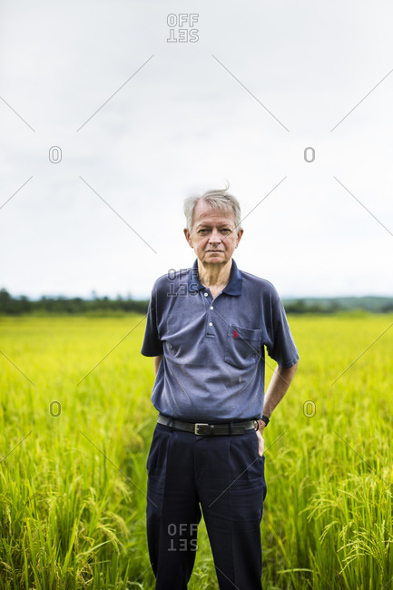 Quang Tri, Vietnam - September 10, 2014: Chuck Searcy, a veteran, who has worked in Vietnam for the past two decades, in Quang Tri province