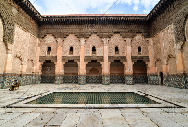 The courtyard of Ben Youssef Madrasa