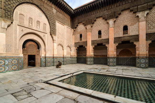 Pool in the courtyard of Ben Youssef Madrasa