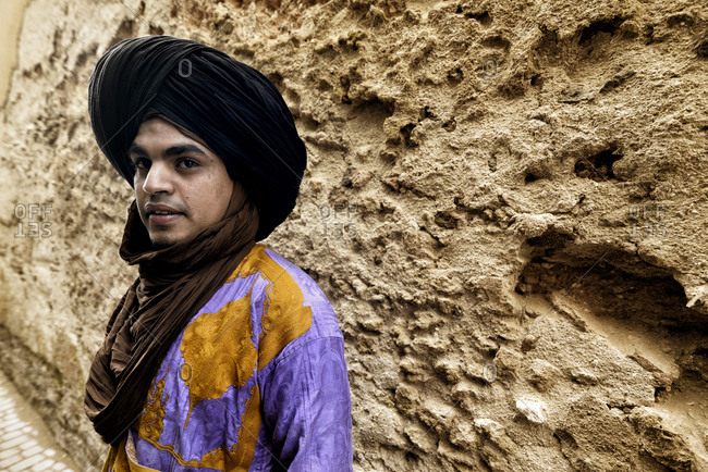 Morocco - November 23, 2014: Portrait of a Berber man