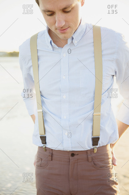 Man standing on waterfront