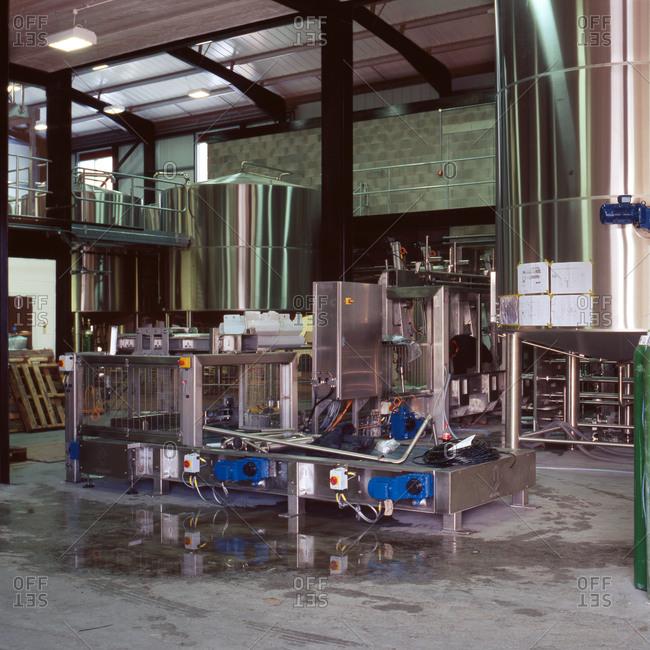 Burnley, Lancashire, UK - November 9, 2010: Equipment in brewery in UK