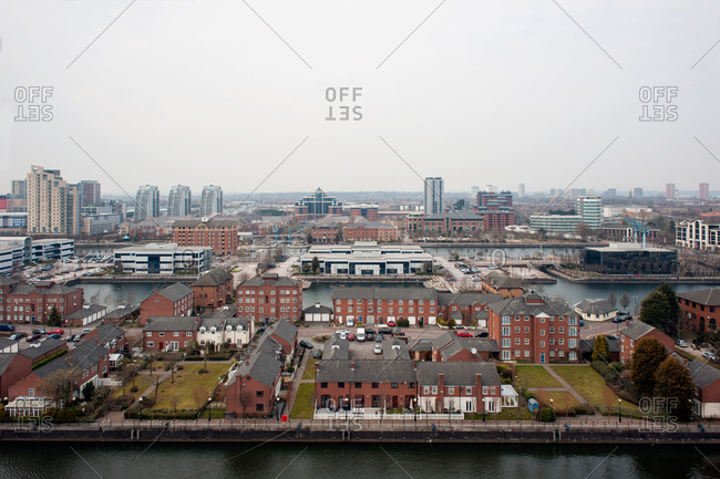 Salford Quays in Manchester, England