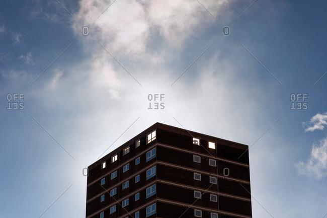 Cradley Heath, Birmingham, UK - November 9, 2013: Apartment building in Birmingham, England
