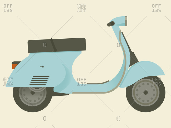 Scooter on a beige background