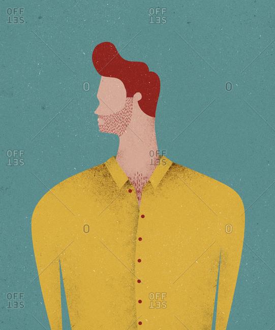 Portrait of a redhead man