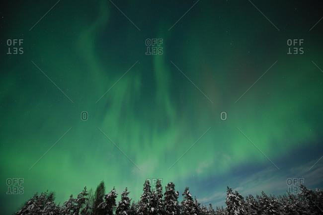 Aurora Borealis in Finland - Offset