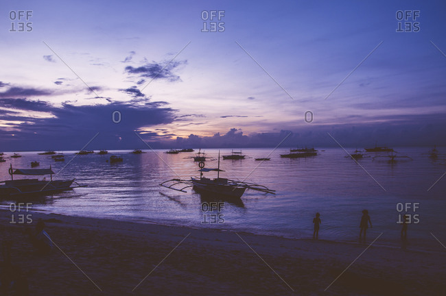 Sunrise at Alona Beach in Panglao, Philippines