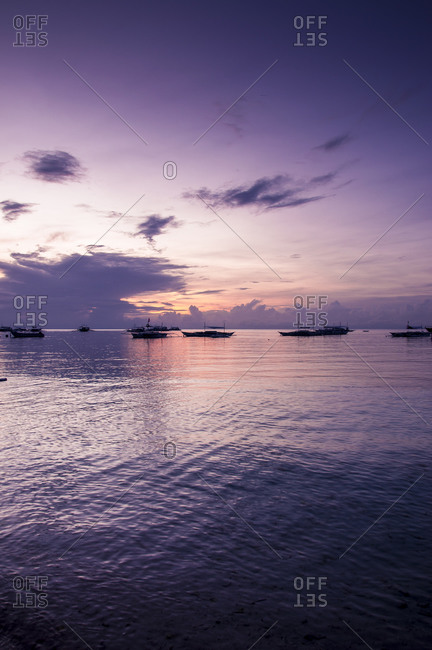 Fishing boats at Alona Beach in Panglao, Philippines
