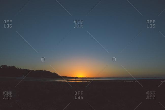 Sunset at the Coochiemudlo Island in Australia