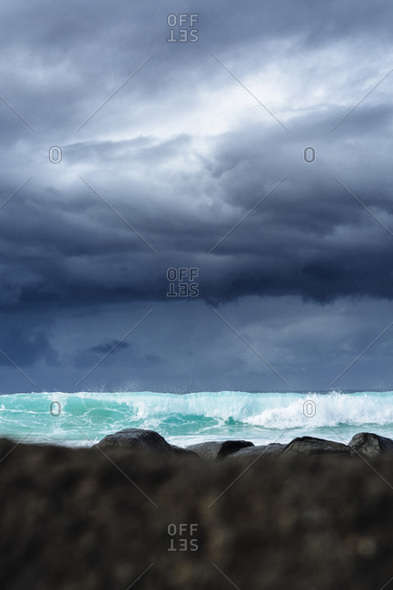 Incoming storm at Burleigh Heads