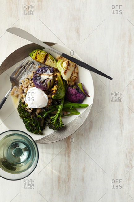 Various brassicas on a plate