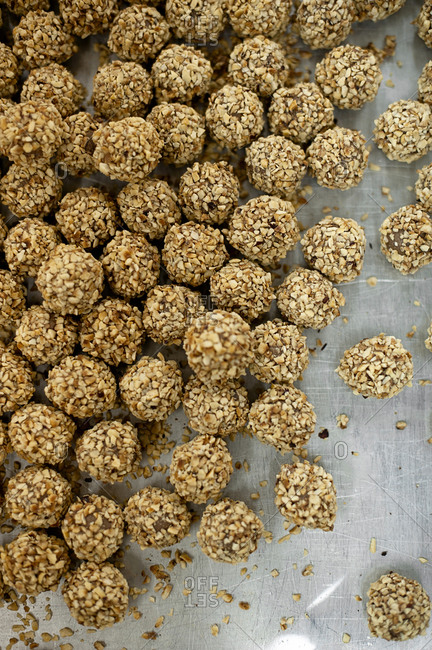 Truffles covered in nuts