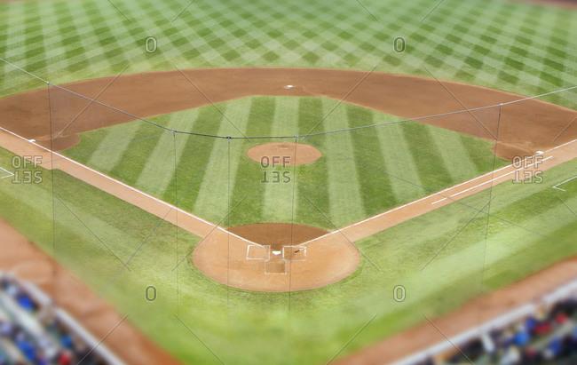 Empty baseball field in the USA