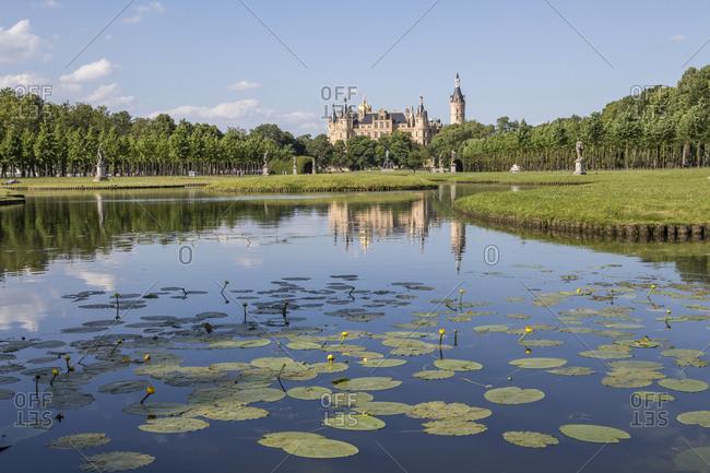 Castle with garden, Mecklenburg-Vorpommern, Germany