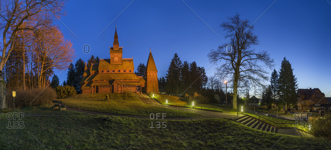 Stave church at Hahnenklee-Bockswiese, Mecklenburg-Vorpommern, Germany