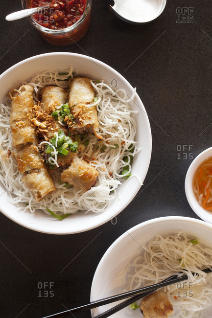 Bun Cha Gio, Vietnamese egg rolls filled with pork and vegetables